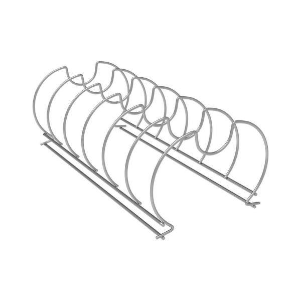 Euro satin-nickel steel lid organizer