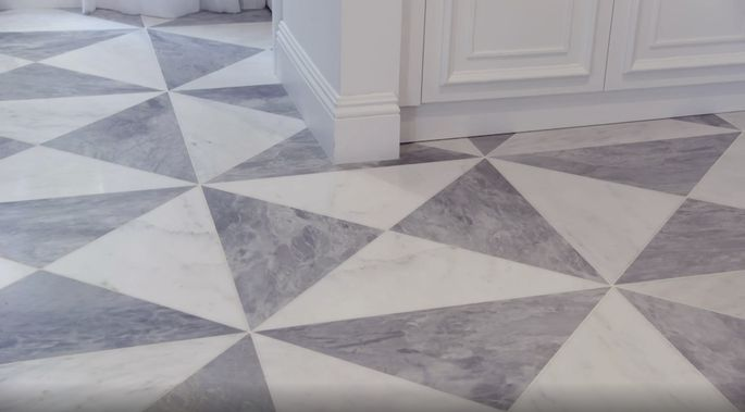 This tile looks perfect in the entryway.