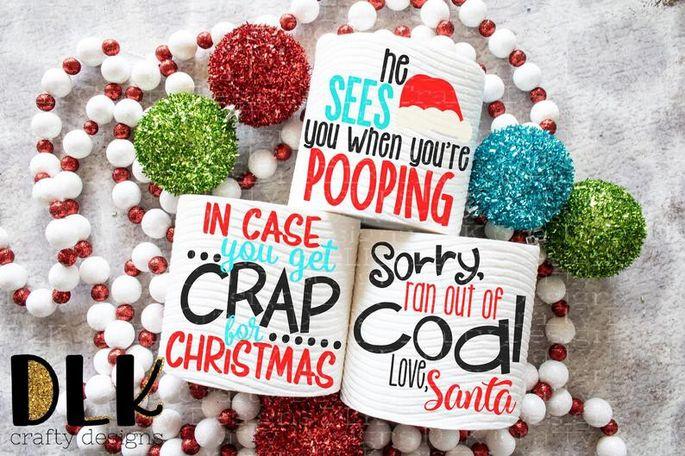 Oh crap! It's Christmas toilet paper.