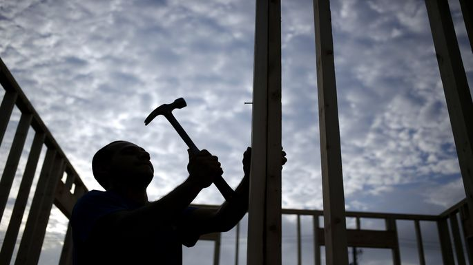 Home Construction Site Ahead Of Construction Spending Figures