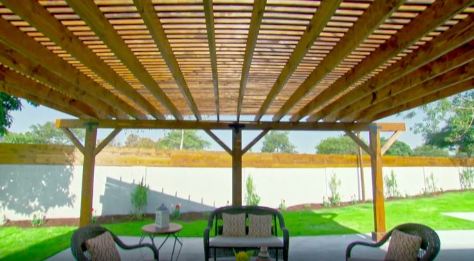 Maybe El Moussa was wrong. This pergola is fantastic!