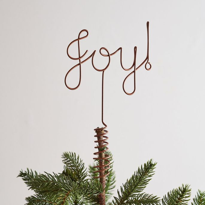 Put a little joy on top of your tree.