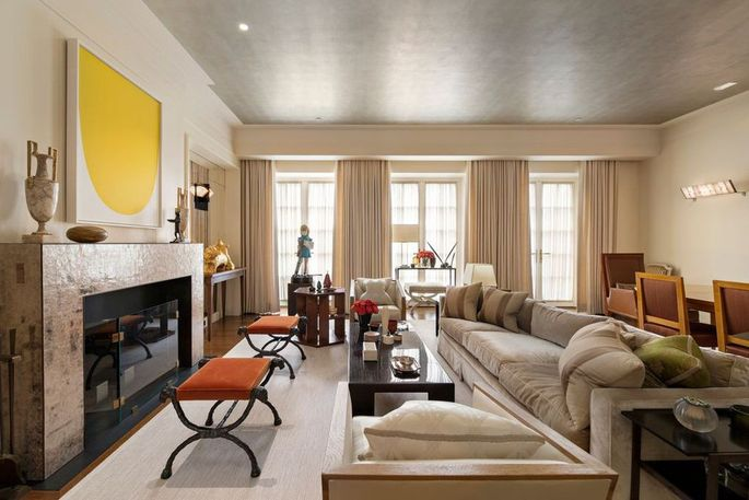 Living and dining space of Marc Jacobs' town house