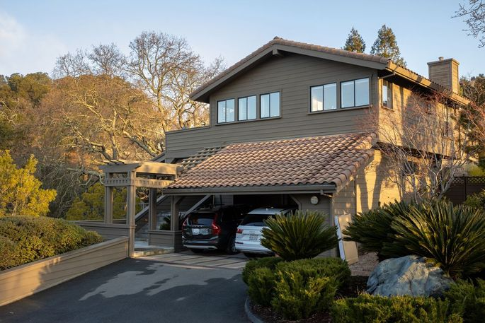 The newly purchased home of Richard and Meaghan Weiss in Northern California.