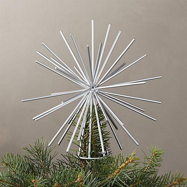 Silver starburst tree topper