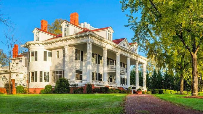 Georgia Mansion That Inspired Gone With The Wind Film Up For