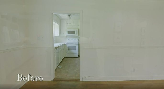This kitchen was completely closed off.