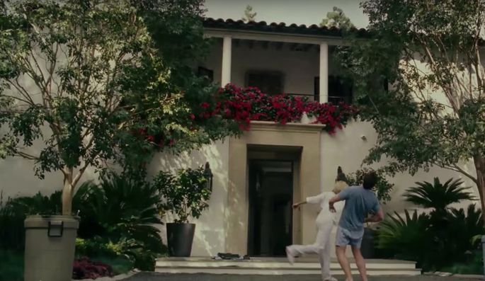 """The home was featured in """"The Holiday."""" In this scene, Cameron Diaz decks Edward Burns."""