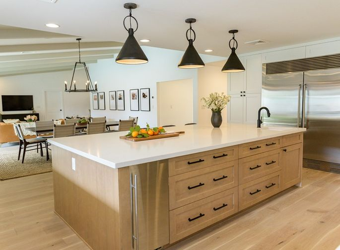 Gleaming white kitchen countertops that are practical