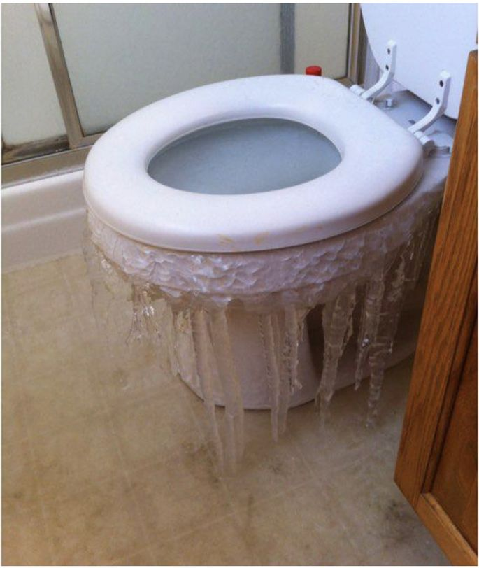 Even the toilets are freezing in Texas.