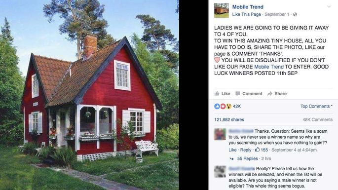 Tiny House Giveaway Scam on Facebook | realtor com®