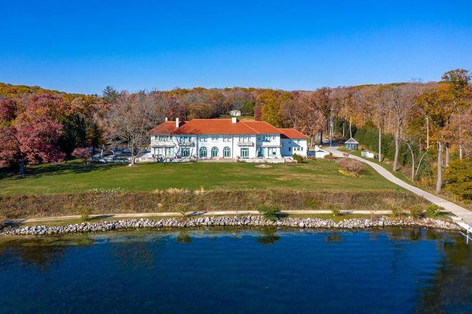Exterior of estate on Lake Geneva, WI