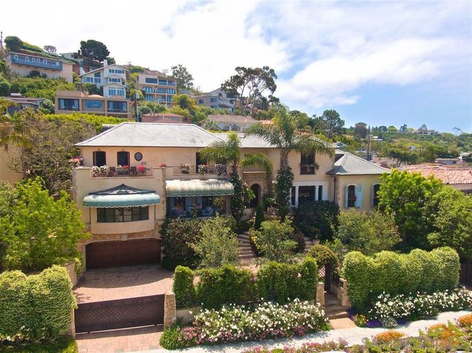 Dick Enberg's French-style chateau in La Jolla