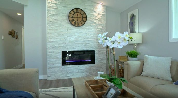 This fireplace really brightens up the room!