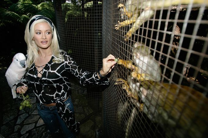 Holly Madison in the zoo