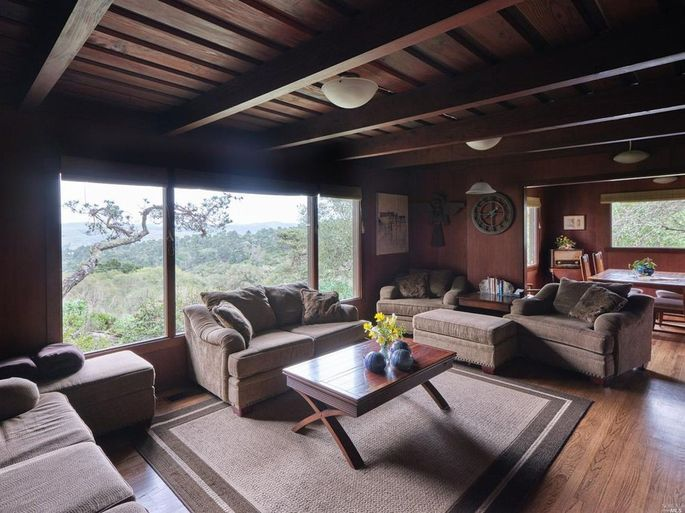 Middle House cabin living area