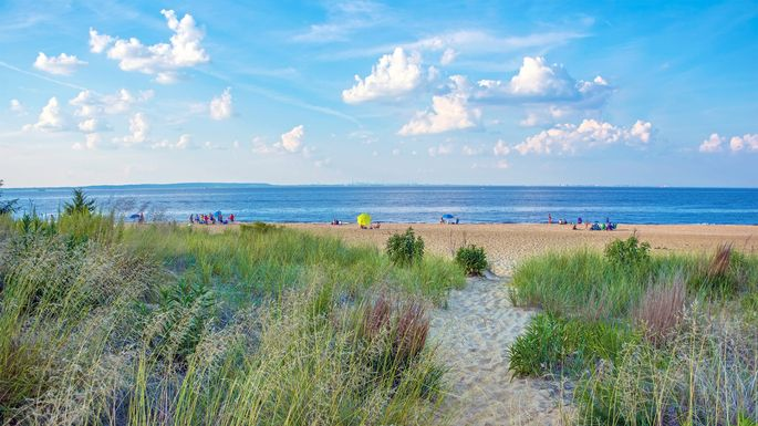 A quieter beach of Keansburg, NJ