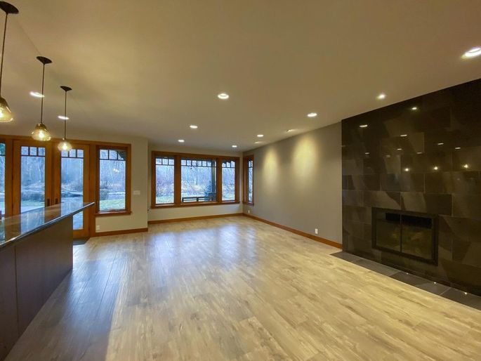 Living and dining space