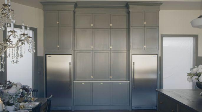 These fabulous cabinets definitely look custom.
