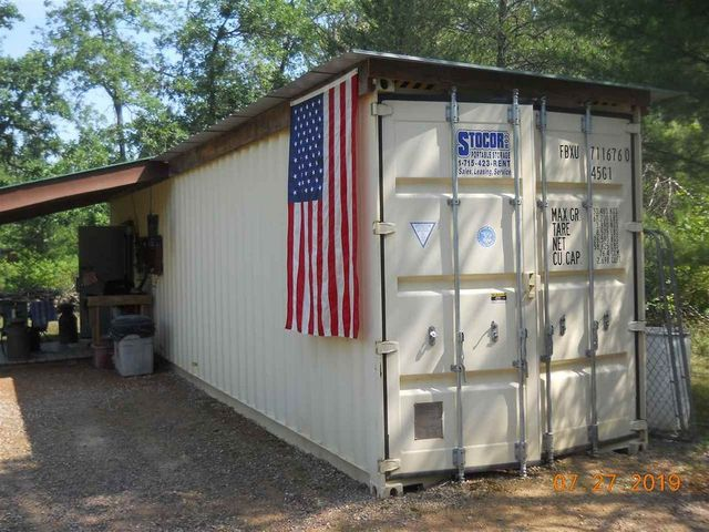 shipping container home in Friendship WI exterior
