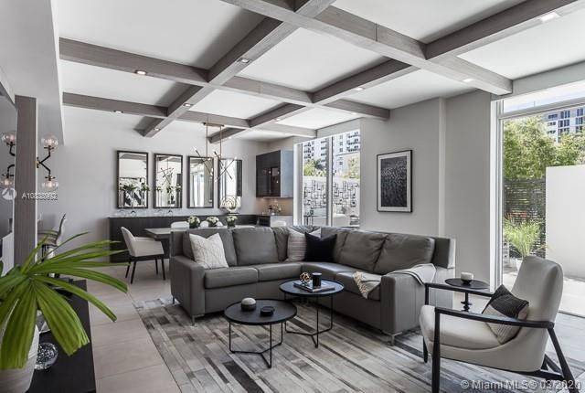 Living room of Brad Parscale's townhome in Fort Lauderdale, FL