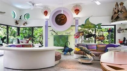 Whimsical and Wild, Upcycled Art Home for Sale in Florida—All Artwork Included