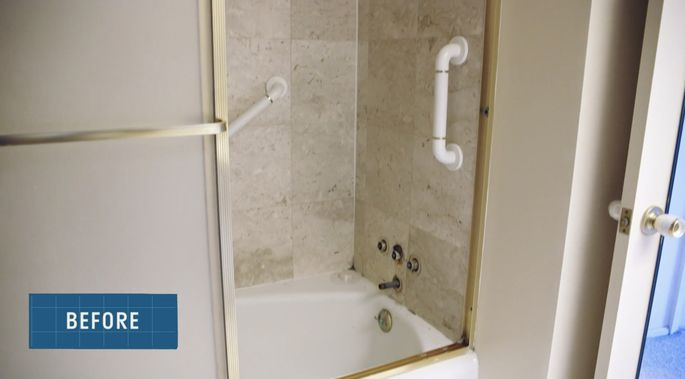 This shower definitely needed some new tile.