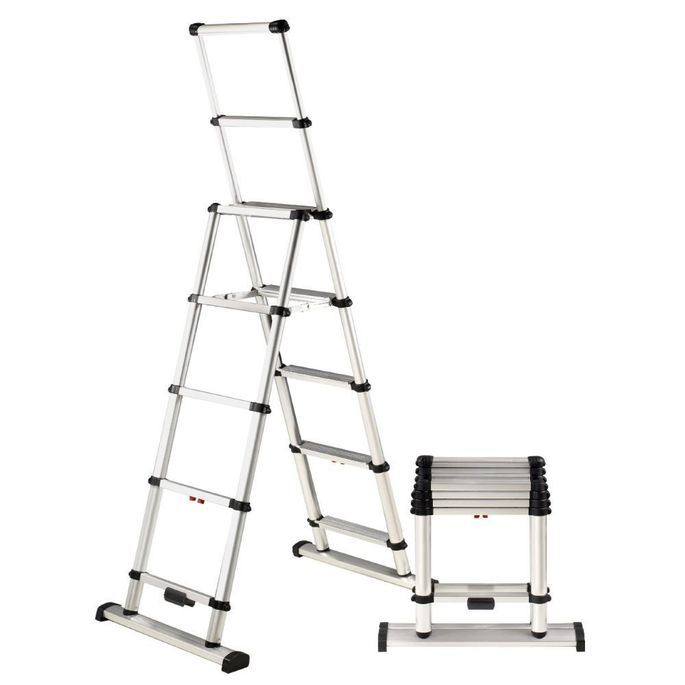 For the space-challenged: This ladder collapses and folds.