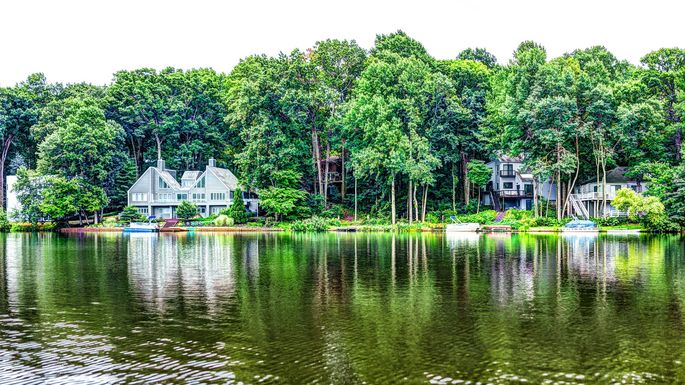 Lake Audubon in Reston, VA, in Fairfax County