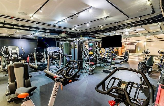 Mirrored gym
