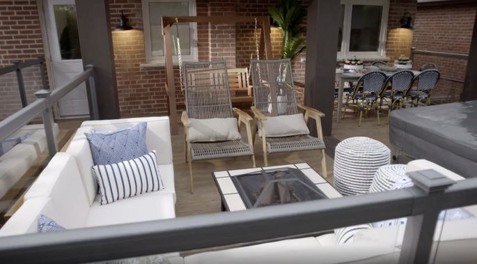 This back deck is a perfect place for the family to gather.