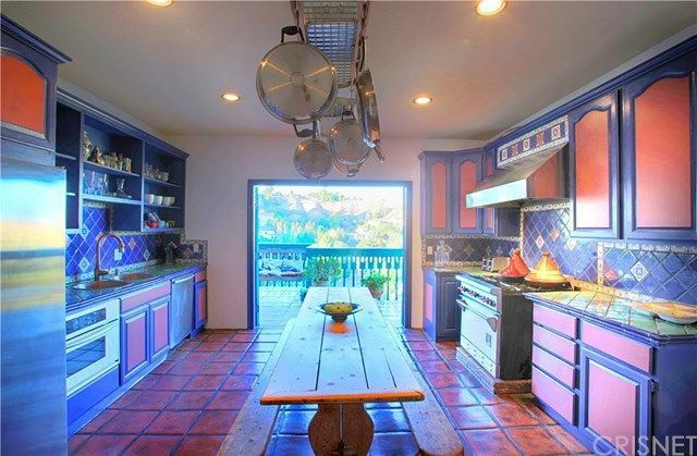 A colorful kitchen