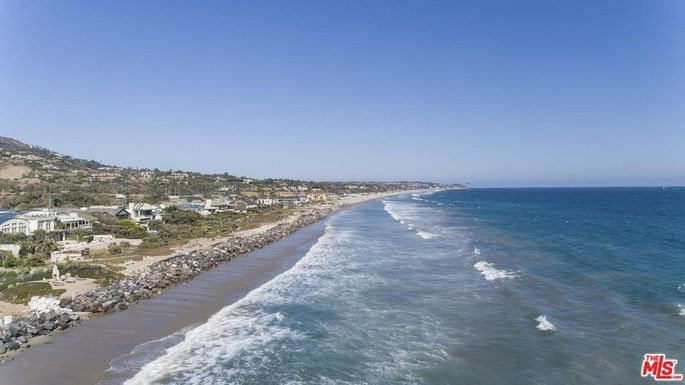 Malibu's Broad Beach, famed for its celebrity residents