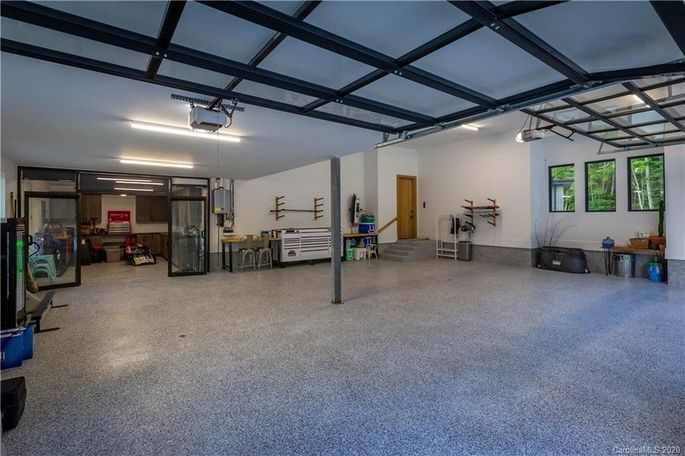 Three-car garage with workshop