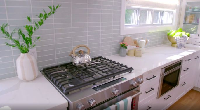 This backsplash is a perfect blend of mature and playful.