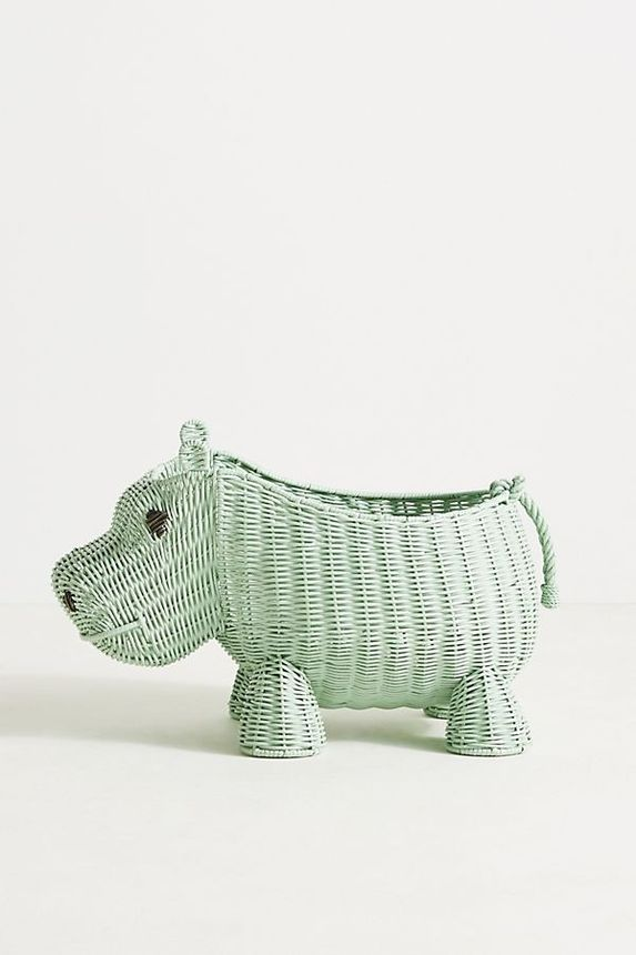 Store books, blankets, and even laundry in this adorable hippo basket.