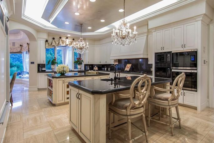 Chef's kitchen with double islands