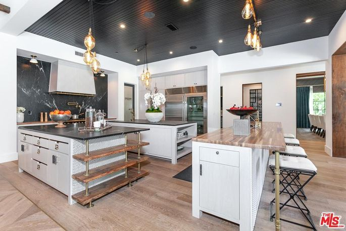 Three-island kitchen