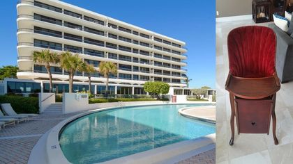 Baby Talk: This Palm Beach Condo Comes With John Kennedy Jr.'s Highchair