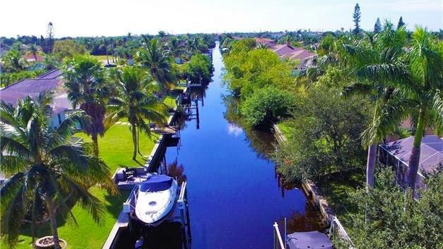 Homes on Cape Coral's canal system