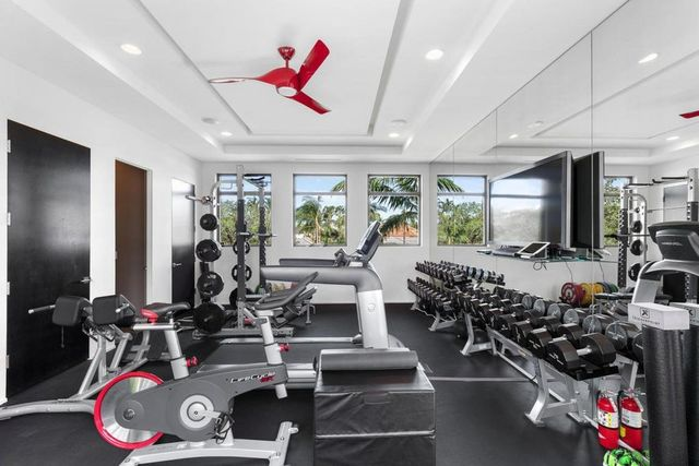Rory McIlory's home gym.