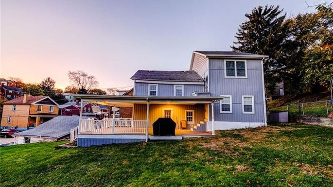 This home in the borough of Brentwood in the Pittsburgh metro area lists for $88,900.