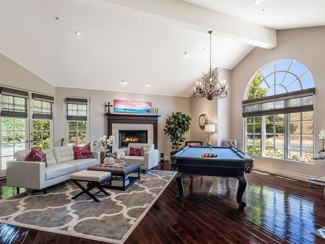 Family room with pool table westlake village