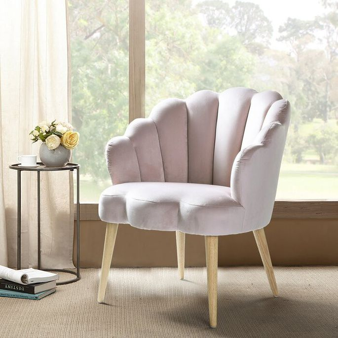 Scalloped armchair