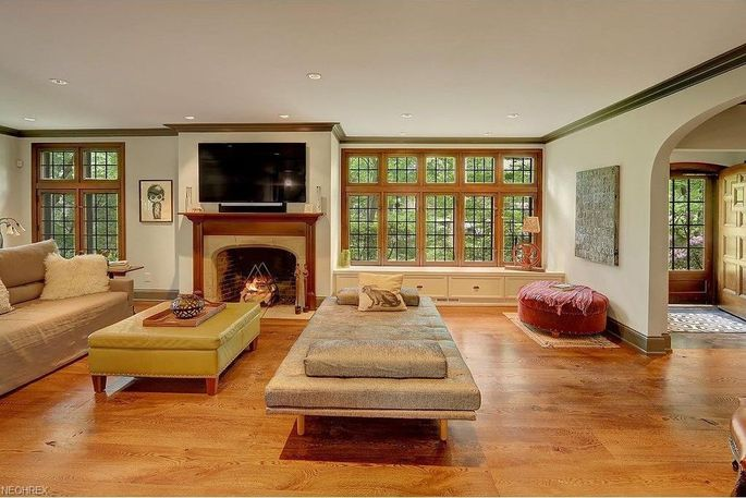 The open layout encourages entertaining.