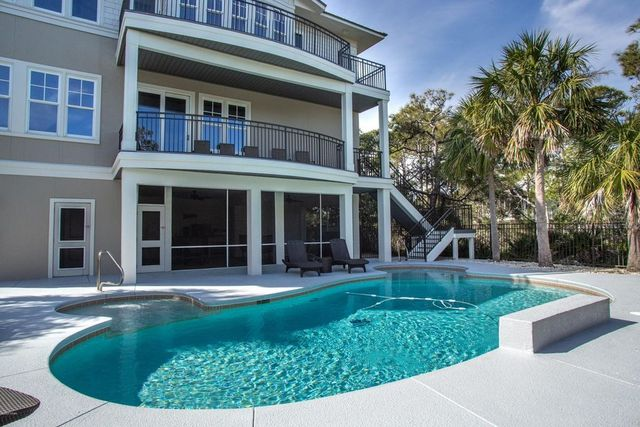 Pool at Aldean home for sale
