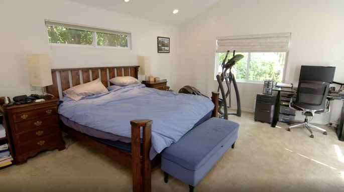 Before: This bedroom doesn't look bad, but it wasn't an oasis for Scott.