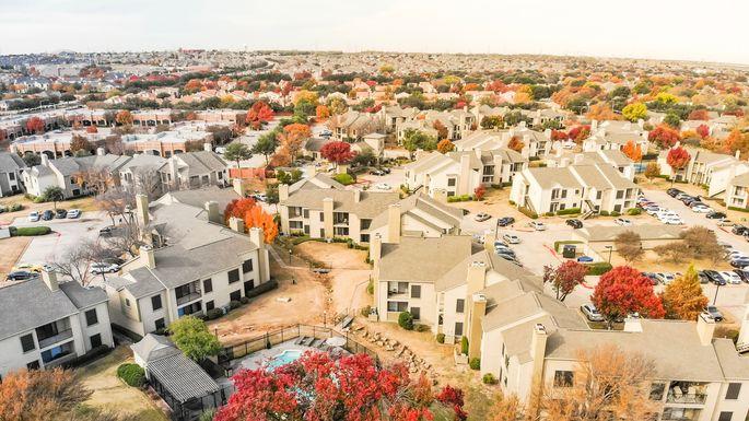 Apartment buildings near Dallas, TX