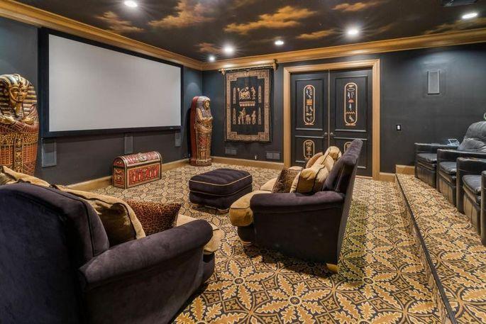 Egyptian-themed screening room