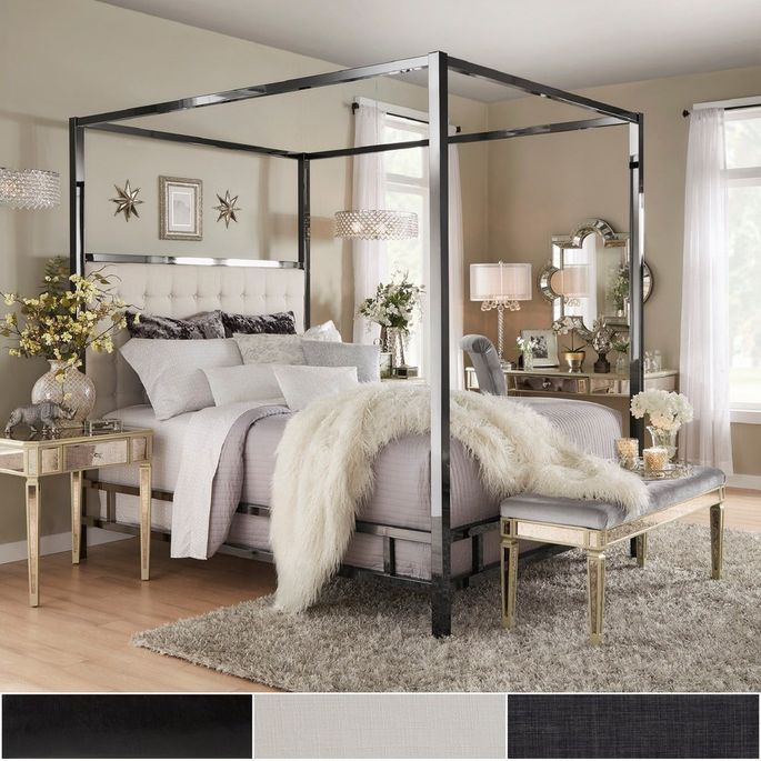 Nothing beats the drama of a canopy bed.